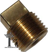 "5B9169 1/2"" NPT Caterpillar Square Plug"