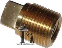 "6L2279 3/8"" NPT Caterpillar Square Plug"