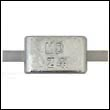 AZ-4A Weld-On Aluminum Anode with Aluminum Strap