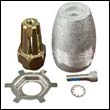 Alpha One / Bravo One Propeller Nut with Aluminum Anode