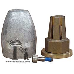 Bravo II Propeller Nut with Aluminum Anode