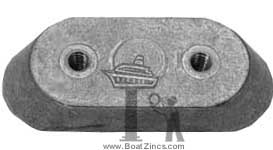 123009 Johnson/Evinrude Small Outboard Zinc Anode