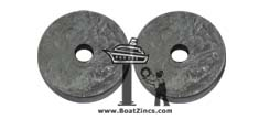 2-Blade Saildrive Flexofold Propeller Zinc Anode Kit