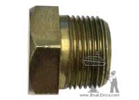 "GP-1000 1"" NPT Brass Plug for GP-1050 Engine Zinc Anodes"