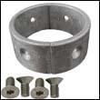 "15670000A Aluminum Anode Ring for Gori 13-18"" 2-Blade Saildrive Props"