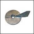 17264 Mercury 50-60 HP Outboard Trim Tab Zinc Anode