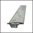 34127 Mercury/Mercruiser Long Trim Tab Zinc Anode