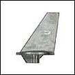 34127A Mercury/Mercruiser Long Trim Tab Aluminum Anode