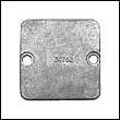 34762 Mercruiser Square Plate Zinc Anode