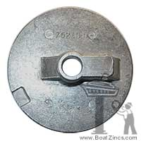 76214-4A Mercruiser Flat Trim Tab Aluminum Anode, No Threads
