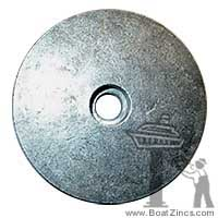 76214-4 Mercruiser Flat Trim Tab Zinc Anode, No Threads