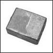 433458A Johnson/Evinrude Transom Bracket Aluminum Anode (398331A)