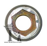"P-8 Perry Propeller Nut Zinc Anode - 1-3/4"" shaft"