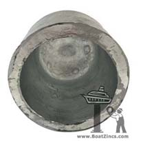 PN04Z Commercial Propeller Nut Zinc Anode - Inside View