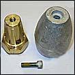 Bravo III (2003 & Earlier) Propeller Nut w/ Zinc Anode - Complete