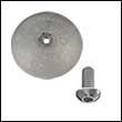 "R-1A Single Rudder Aluminum Anode - 1-7/8"" Dia. (R-1A-Single)"