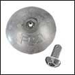 "R-2A Single Rudder Aluminum Anode - 2-13/16"" Dia. (R-2A-Single)"