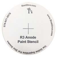 FREE!!! Bottom Paint Stencil for the R-3 Anode (One pair)