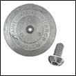 "R-3HA Single Rudder Aluminum Anode - 4"" Dia. Heavy (R-3HA-Single)"