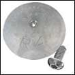 "R-4A Single Rudder Aluminum Anode - 5"" Dia. (R-4A-Single)"