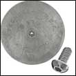 "R-7A Single Rudder Aluminum Anode - 6-7/8"" Dia. (R-7A-Single)"