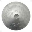 "R-7S Streamlined Hull Zinc Anode - 6-7/8"" Dia."