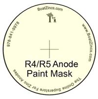 BoatZincs.com R4/R5 Anode Bottom Paint Stencil