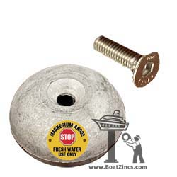 SM71190M Side-Power Magnesium Anode with mounting screw