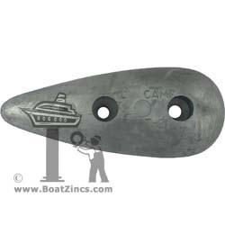 Hull Commercial Bolt-On Teardrop Aluminum Anodes