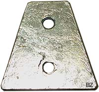 876638 Volvo Penta DPX Outdrive Trapezoid Zinc Anode