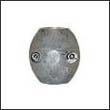 "Camp X-3A Shaft Zinc Anode - 1"" Heavy (X5A)"