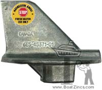 6E5-45371-01M Yamaha 90-200 HP Outboard Trim Tab Magnesium Anode