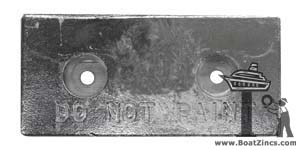 Hull Bolt-On Plate Zinc Anodes