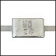 Z-4A Weld-On Zinc Anode with Aluminum Strap