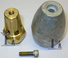 Bravo III Propeller Nut with Aluminum Anode