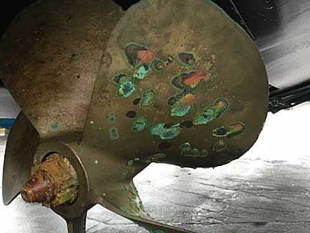 Corroded Rudder