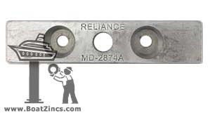 2874A Zinc Anode for Fernstrum® Keel Coolers (2874S, ZN5009K)