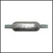 "Oval Weld-On Zinc Anode - 4 lbs, 12"" strap"