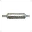 "Oval Weld-On Zinc Anode - 5 lbs, 12"" strap"