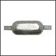 "Oval Weld-On Zinc Anode - 6 lbs, 12"" strap"