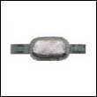 "Oval Weld-On Zinc Anode - 2 lbs, 8"" strap"