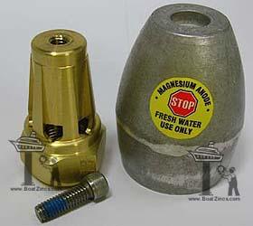 Bravo III Propeller Nut with Magnesium Anode