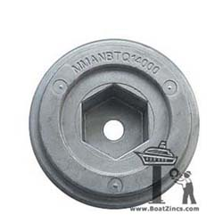 Zinc Anode for Quick BTQ/BTR Thrusters with 140mm Tunnel (MMANBTQ14000)