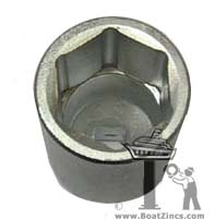 Deep Socket for Installing Bravo III Propeller Nut Anodes