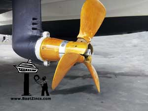 Yanmar saildrive and Gori propeller with new anodes.