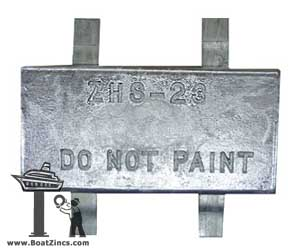Weld-On Plate Zinc Anodes — 4 Tabs